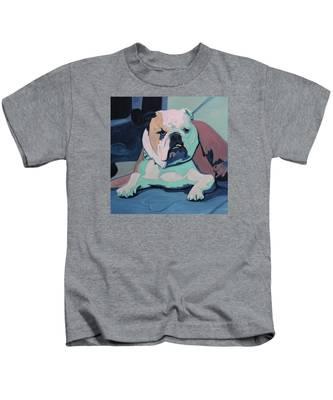 A Bulldog In Love Kids T-Shirt