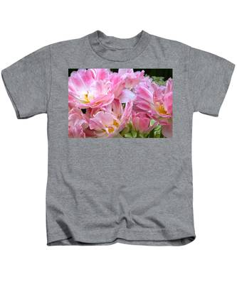 A Crowd Of Tulips Kids T-Shirt
