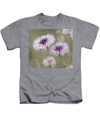 Bachelor Buttons - Flowers Kids T-Shirt