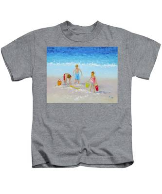 Beach Painting - Sandcastles Kids T-Shirt