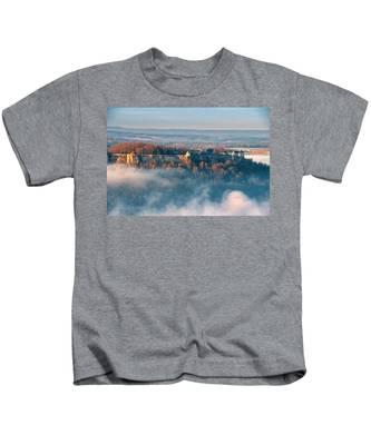 Fog Around The Fortress Koenigstein Kids T-Shirt