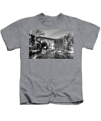 Great Falls In The Winter Kids T-Shirt