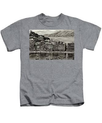Grunge Seascape Kids T-Shirt