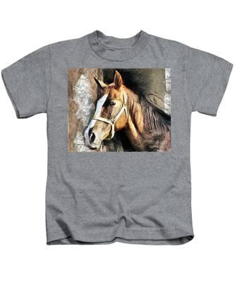 Horse Portrait - Drawing Kids T-Shirt