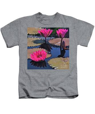 Hot Pink Tropicals Kids T-Shirt