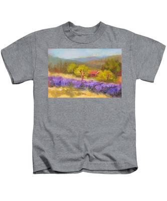 Mountainside Lavender   Kids T-Shirt