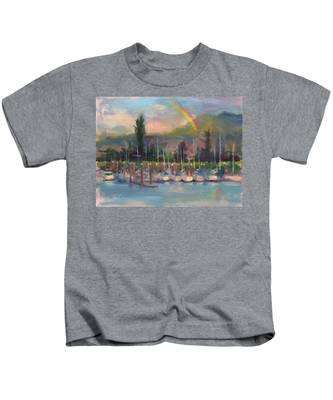 New Covenant - Rainbow Over Marina Kids T-Shirt