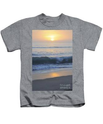 Kids T-Shirt featuring the photograph Peaceful Sunset by Bridgette Gomes