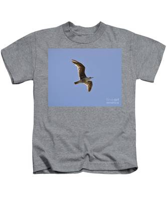 Kids T-Shirt featuring the photograph Seagull N Light  by Bridgette Gomes