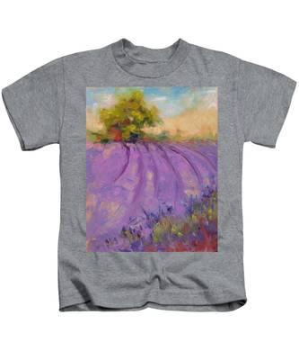 Wildrain Lavender Farm Kids T-Shirt