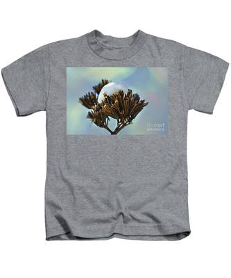 Winter Agave Bloom Kids T-Shirt