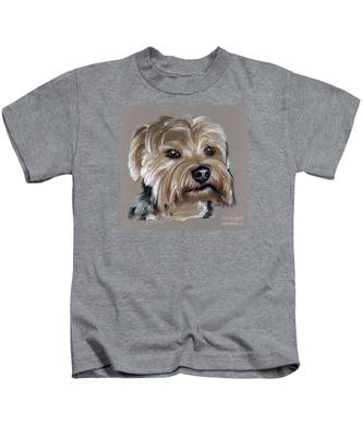 Yorkshire Terrier- Drawing Kids T-Shirt