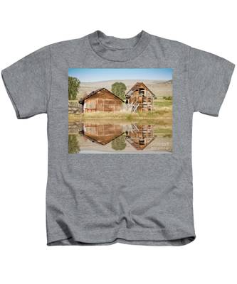 Reflection Of An Old Building Kids T-Shirt