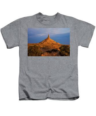 Sunrise At Chimney Rock Kids T-Shirt