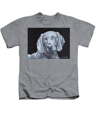 Blue Weimaraner Kids T-Shirt