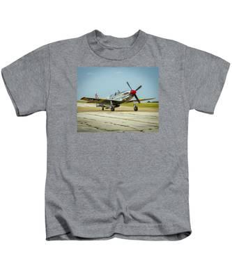North American Tp-51c Mustang Kids T-Shirt