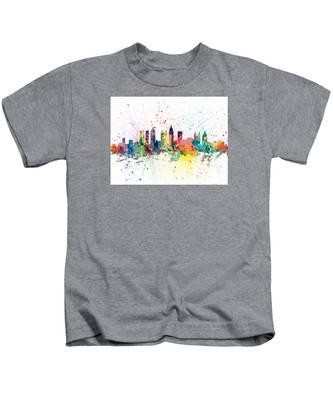Atlanta Georgia Skyline Kids T-Shirt