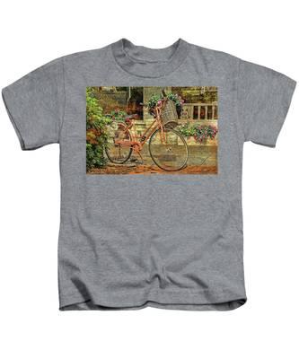 A Basketful Of Spring Kids T-Shirt