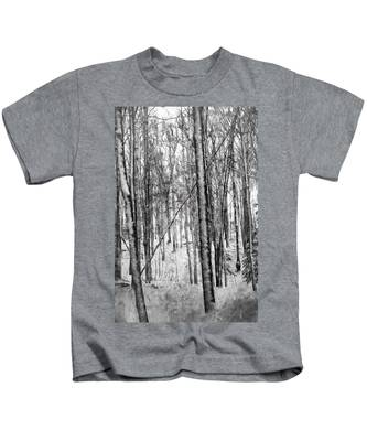 A Tree's View In Winter Kids T-Shirt