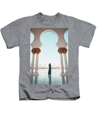 Abu Dhabi Mosque Kids T-Shirt