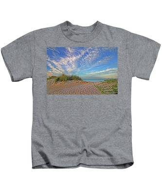An Invitation - Florida Seascape Kids T-Shirt
