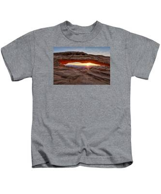 Another Sunrise At Mesa Arch Kids T-Shirt