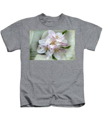 Apple Blossoms From My Hepburn Garden Kids T-Shirt