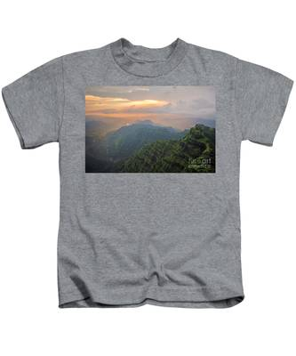 Arthurs Seat At Dusk Kids T-Shirt