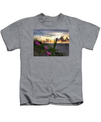 Beach Flowers Kids T-Shirt