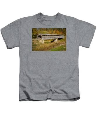 Beech Fork Or Mooresville Covered Bridge Kids T-Shirt