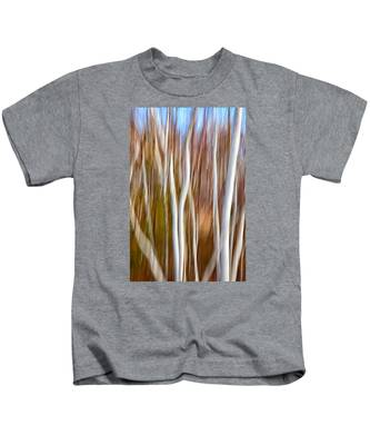 Birch Abstract No. 5 Kids T-Shirt