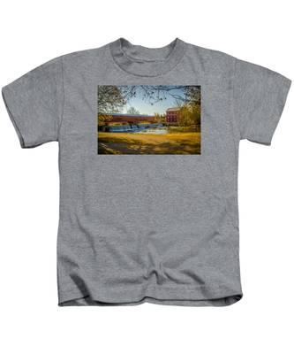 Bridgeton Mill Covered Bridge Kids T-Shirt