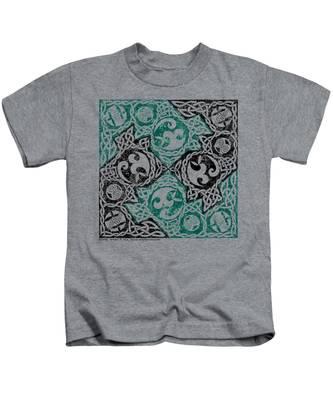Celtic Puzzle Square Kids T-Shirt