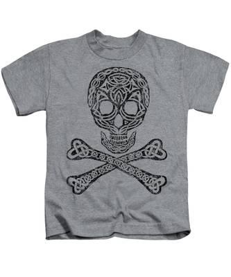 Celtic Skull And Crossbones Kids T-Shirt
