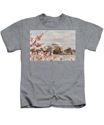 Cherry Blossom And Jefferson Kids T-Shirt