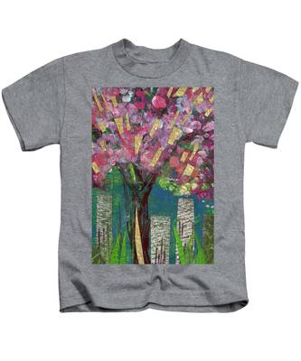 Cherry Blossom Too Kids T-Shirt