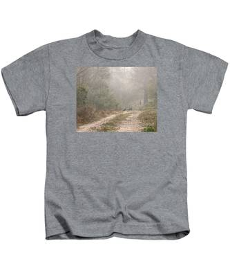 Country Road In The Morning Kids T-Shirt