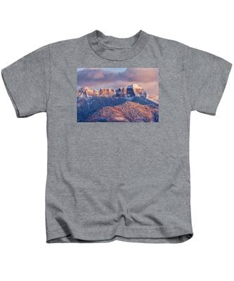 Court House Mountain Glow Kids T-Shirt