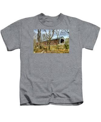 Cox Ford Covered Bridge Kids T-Shirt