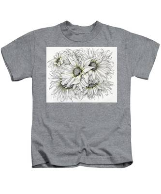 Sunflowers Pencil Kids T-Shirt