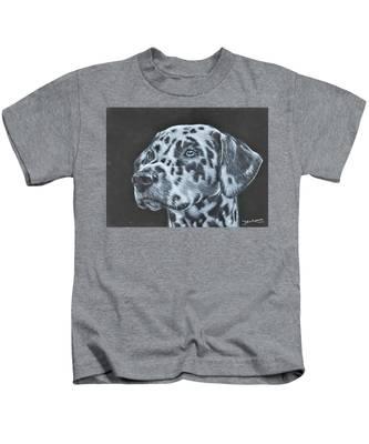 Dalmation Portrait Kids T-Shirt