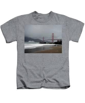 Entering The Golden Gate Kids T-Shirt