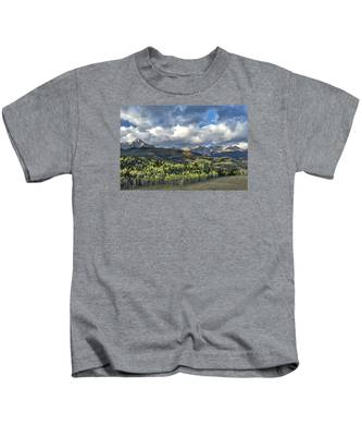 First Light On The Sneffels Range Kids T-Shirt