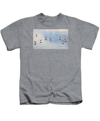 Flock Of Sanderlings Kids T-Shirt