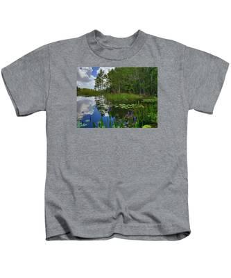Florida Wetlands Reflections Kids T-Shirt