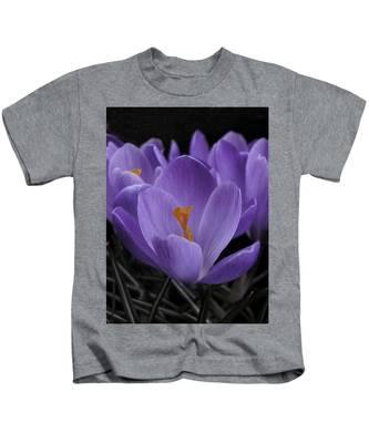 Flower Crocus Kids T-Shirt