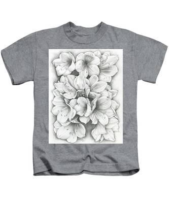 Clivia Flowers Pencil Kids T-Shirt