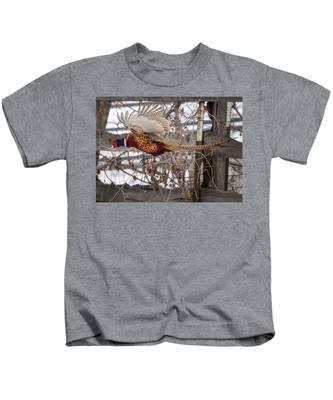 Flying Pheasant Kids T-Shirt