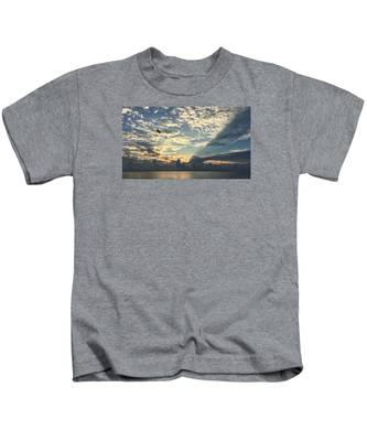 Flying To The Left Kids T-Shirt