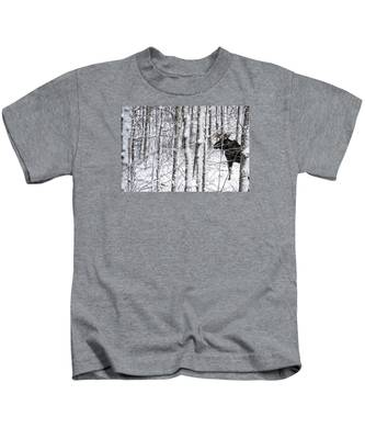 Glimpse Of Bull Moose Kids T-Shirt